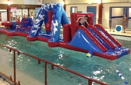 Picture of inflatable at cheap swimming pool session, one of my five frugal things this week