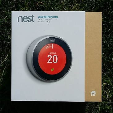 Picture of a Nest learning thermostat sent to me by Octopus Energy, as one of my five frugal things this week.