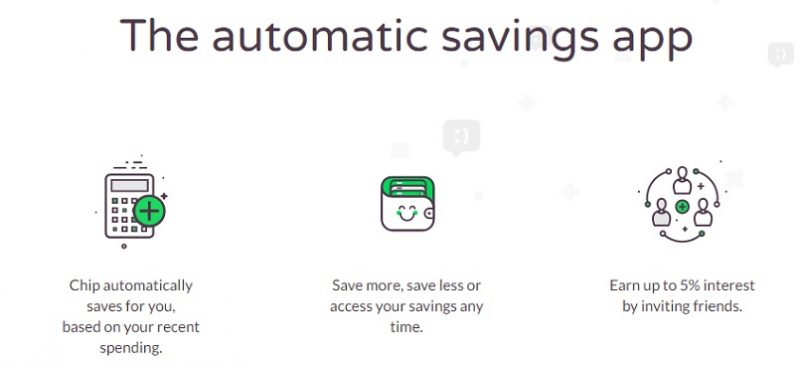 Image of Chip automatic savings app, a frugal and thrifty way to save and earn extra interest up to 5%