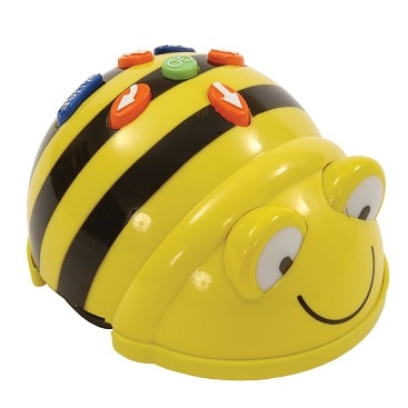 A photo of a Beebot programmable robot, as used by my daughter during the bargain childcare at computer club
