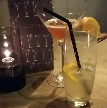Photo of cocktails at the Hadleigh Ram to celebrate my birthday
