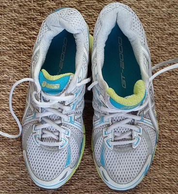 Picture of my pair of running shoes, used for training for a free place on the Great East Run