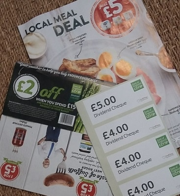 Picture of East of England Co-op meal deal, money off and dividend vouchers for Sourced Locally fortnight
