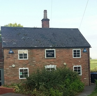 PIcture of Burton Overy Village Hall, another useful amenity when moving to the country
