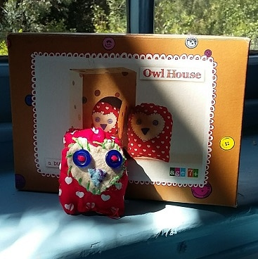 Photo of Button Bag owl house craft kit, bought cheaply from a charity shop to keep children entertained over the summer holidays