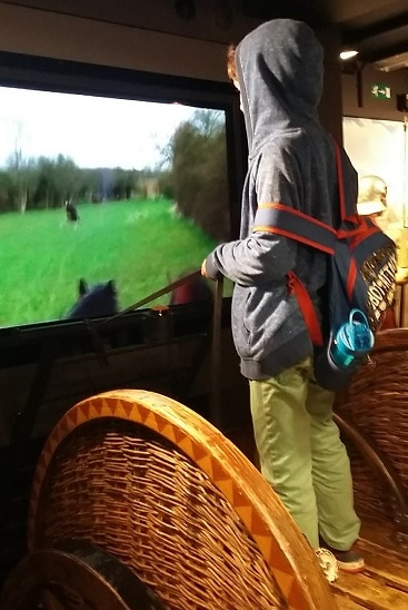 Picture of my son on a chariot ride in Norwich Castle