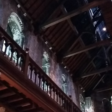 Picture of the roof and upper balcon in Norwich Castle Keep, visited as part of #lettheadventurebegin with Greater Anglia