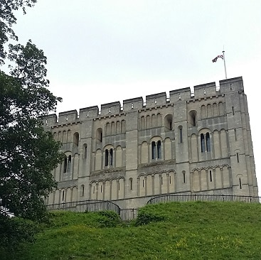 Picture of Norwich Castle during our #lettheadventurebeing trip with Greater Anglia