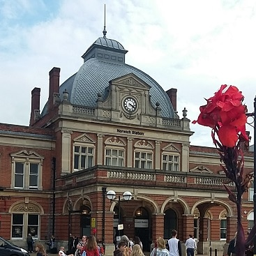 Picture of Norwich station, at the start of our #lettheadventurebegin outing