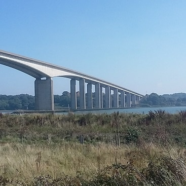 Picture of the Orwell Bridge taken while I was running the Great East Run half marathon