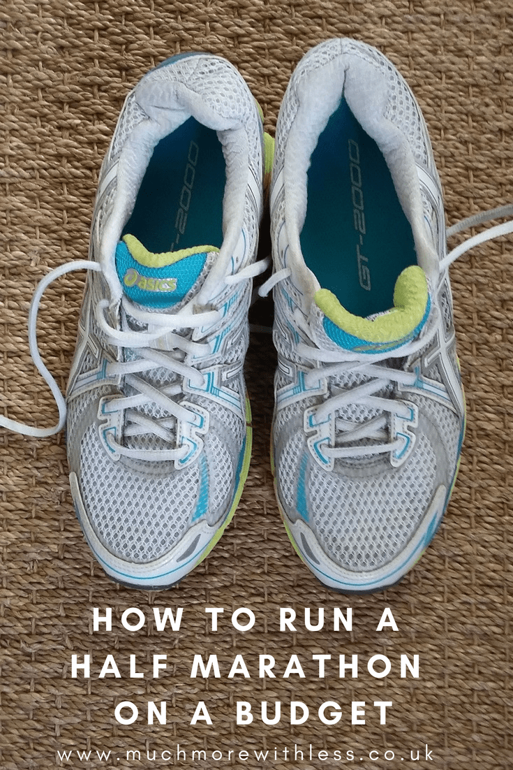 Tips on running a half marathon on a budget, from cutting the cost of running shoes and race entries to recommendations for free apps and training plans.
