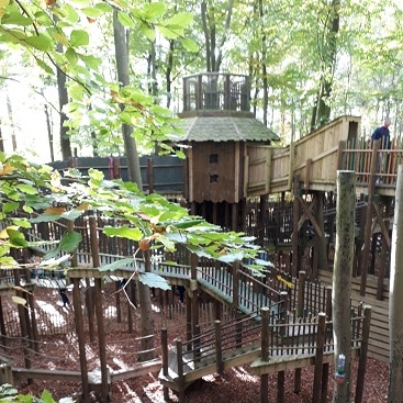 Picture of the sky maze at Bewilderwood, one of the five frugal things we did this week
