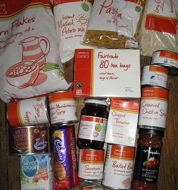 Picture of value range food I donated to a food bank previously