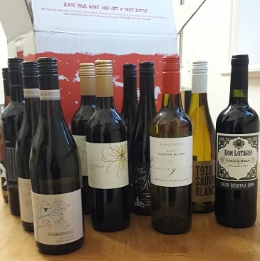 Picture of 12 bottles of wine from Virgin Wines for my 5 frugal things post