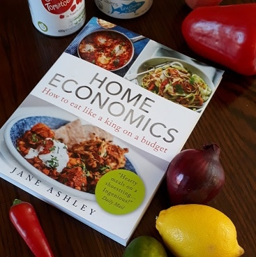 PIcture of the Home Economics Cookbook by Jane Ashley which we used when cutting our spending during January