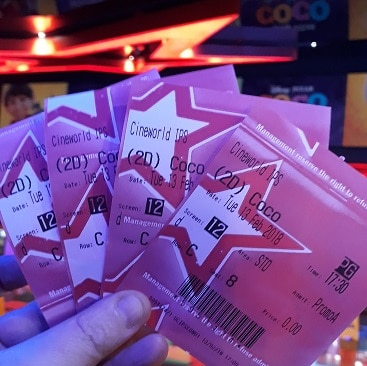 Picture of free cinema tickets to Coco, thanks to Club Lloyds current account vouchers