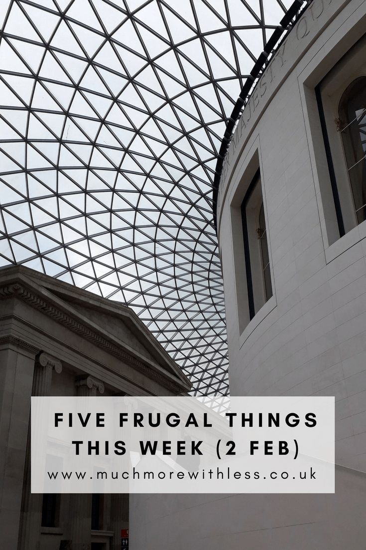 Pinterest size image of British Museum ceiling with post title