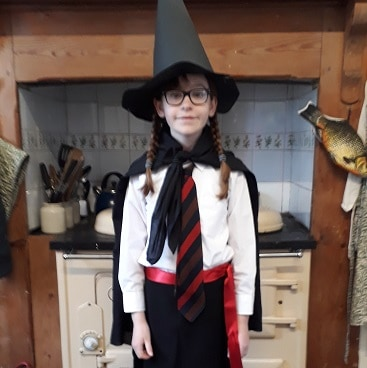 Picture of my daughter in her costume for world book day as one of my 5 frugal things this week
