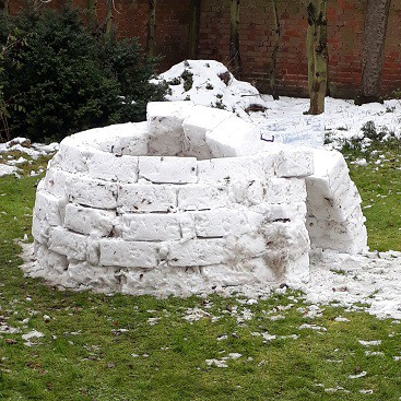 Picture of a part built igloo in our garden as one of our five frugal things this week
