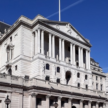 Picture of the bank of England for my post on cashing in a pension