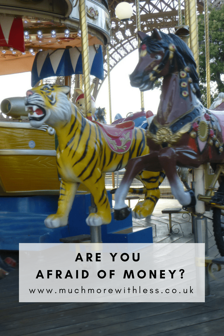 Picture of a scary tiger on a merry-go-round in a Pinterest size image