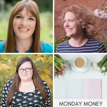 Picture of the hosts of Monday Money linky, Lynn at Mrs Mummypenny, Faith at Much More With Less and Emma from Emma Drew info plus a Monday Money picture