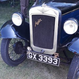 Picture of the front grille and headlamps for an Austin 7 vintage car