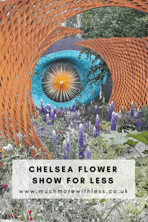 Pinterest size image of a show garden at Chelsea Flower Show