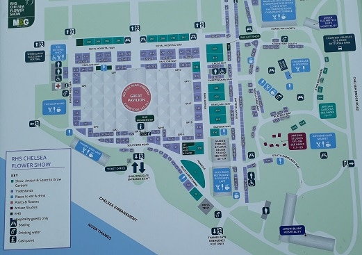 Photo of a map of Chelsea Flower Show