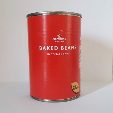Picture of a tin of baked beans to illustrate my post on how much I'll get from my pension