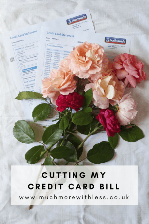 Pinterest size image about cutting my credit card bill