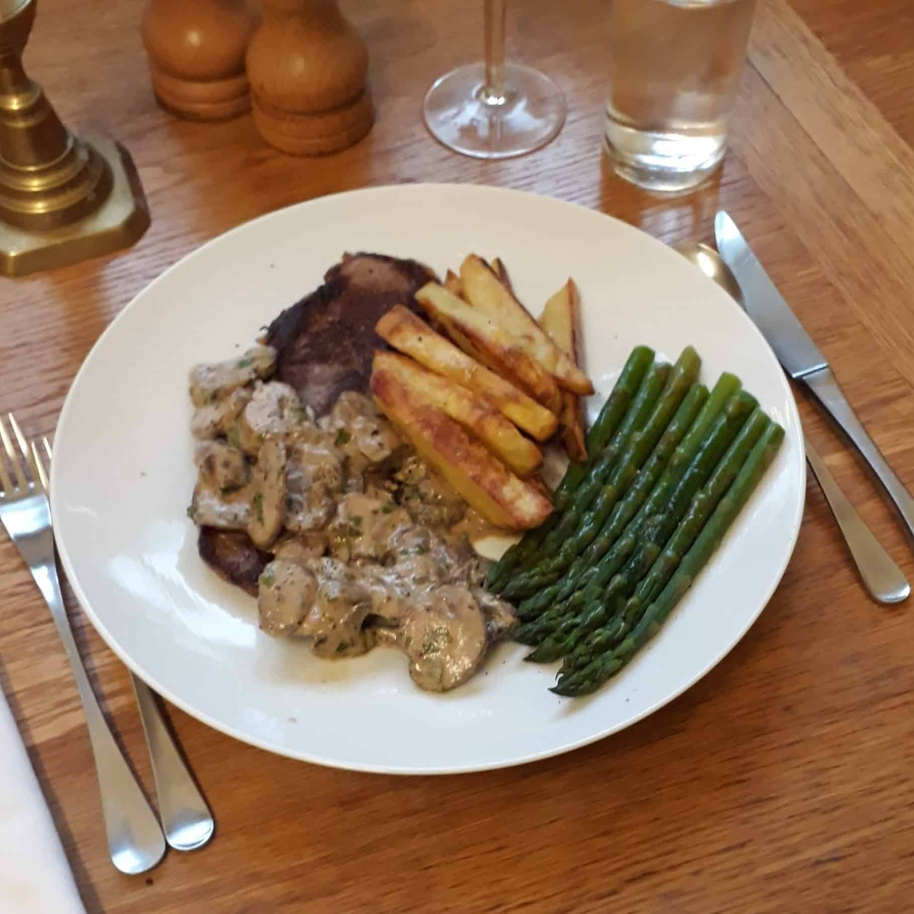 Picture of the meal I made for Fathers' Day from Sourced Locally food
