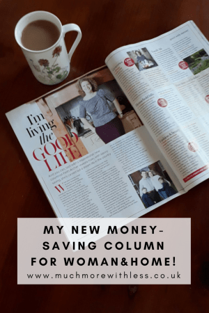Pinterest sized image about my new column for Woman&Home