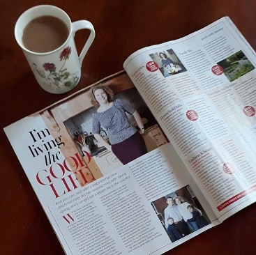 Picture of my new column in Woman&Home magazine with a cup of tea