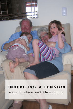 Pinterest size image for my post about inheriting a pension