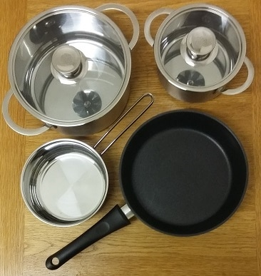 Picture of the pans I bought on Gumtree, for my post about expert tips when buying and selling on Gumtree