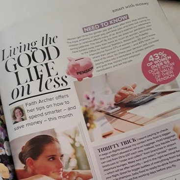 Picture of my column in Woman&Home for my post on September resolutions