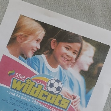 Picture of the flyer for SSE Wildcats Girls' Football