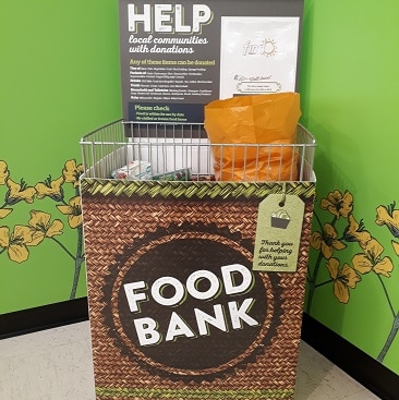 Picture of a food bank collection box in East of England Co-op