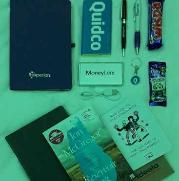 Picture of the freebies I picked up at the SHOMOs conference and awards