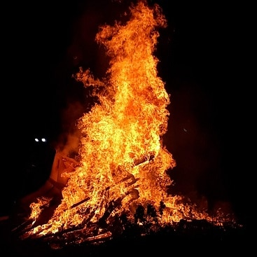 Picture of the bonfire at our local Hadleigh Sea Scouts bonfire party