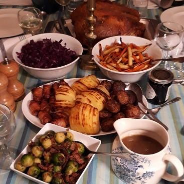 Picture of all the food i cooked from the Muscle Foods Easy Cook Three Course Christmas Recipe Box