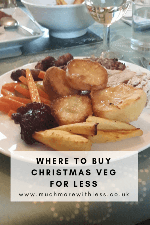 Pinterest size picture of a plate of Christmas vegetables