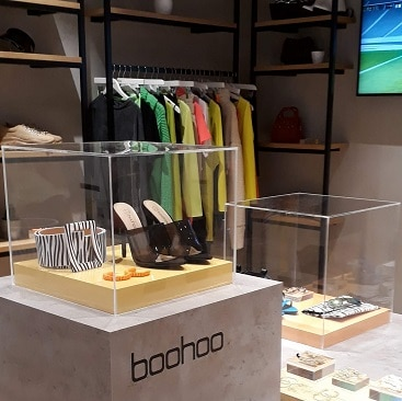 Picture of the Boohoo pop up in B Works Manchester