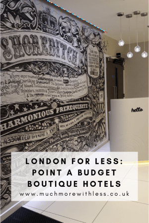 Pinterest size image of the mural in the Point A Shoreditch lobby