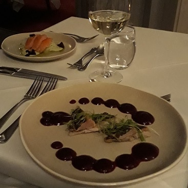 Picture of mackerel and smoked salmon starters