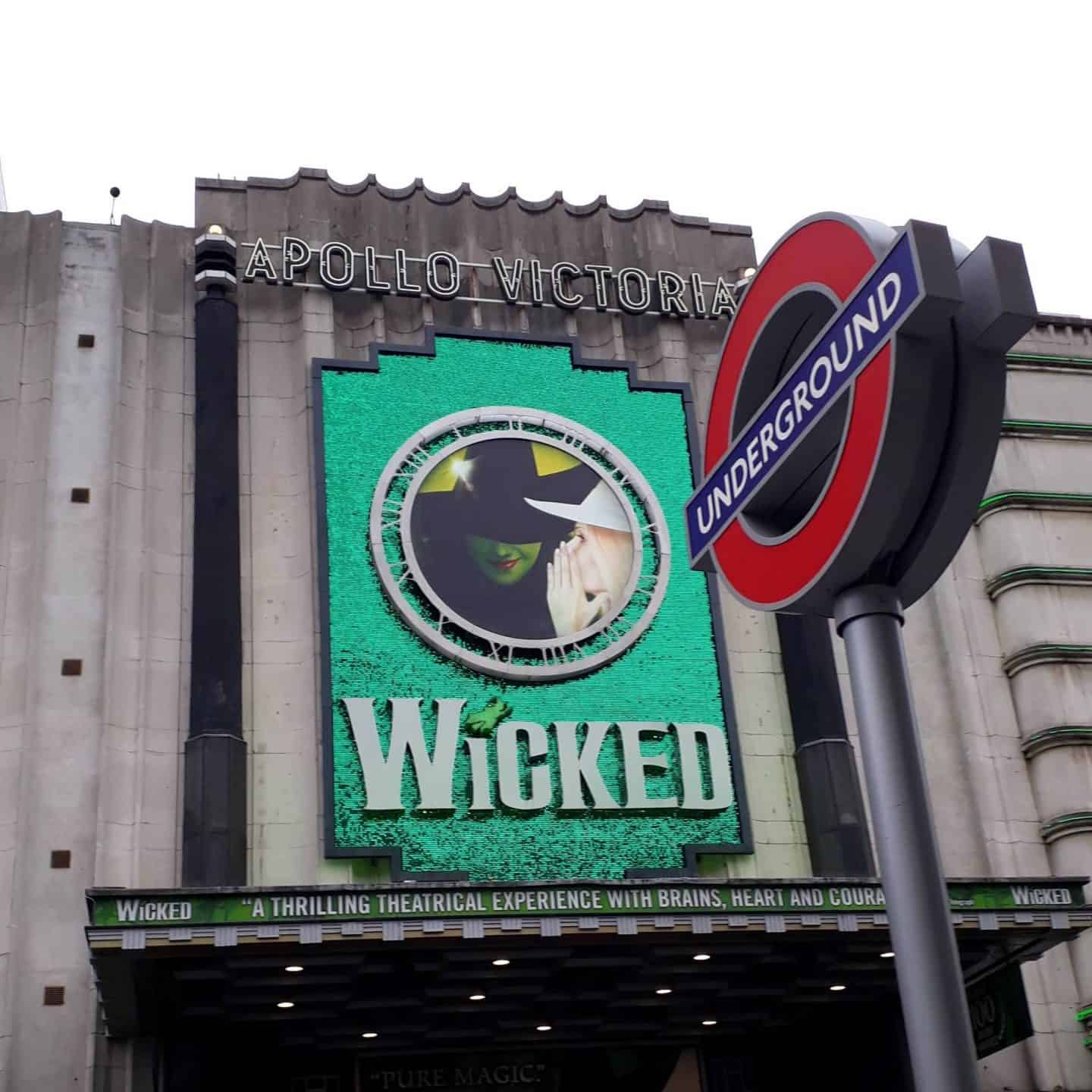 Picture of the theatre showing Wicked for my post on spending diaries
