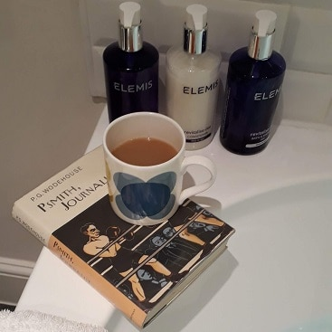 Picture of mug, book and fancy toiletries at The Ickworth Hotel