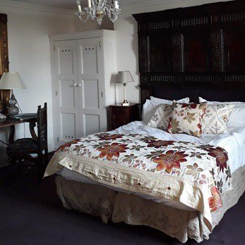 Picture of our room when we stayed at the Ickworth Hotel for a Valentine's Day post