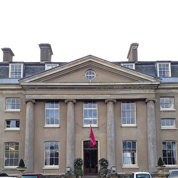 Picture of the front of the Ickworth Hotel for my Valentine's Day post